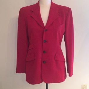 Ralph Lauren Purple Label Red Hacking Jacket Sz 8